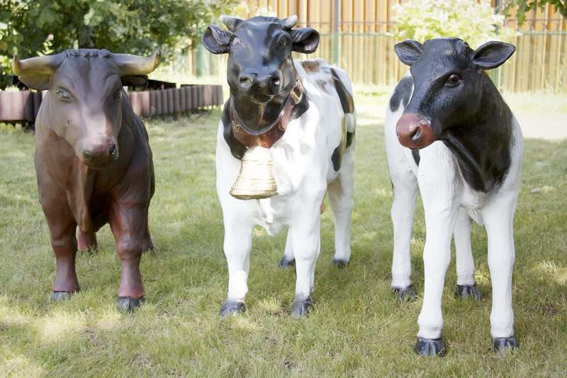 Корова для сада своими руками